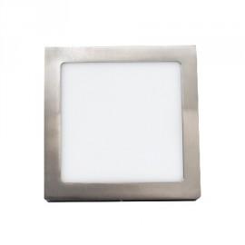 Plafon led cuadrado níquel de 18W