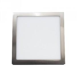 Plafon led cuadrado níquel de 25W