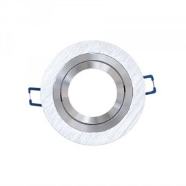 Aplique redondo acabado aluminio 100(Ø)mm basculante