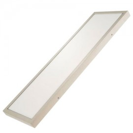 Plafón led rectangular 30W plata