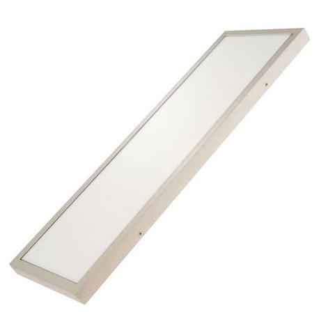 Plafon led superficie rectangular 30w plata for Plafones led ikea