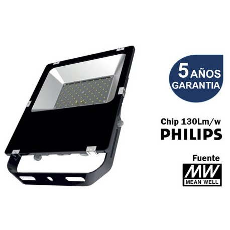 Proyector led SMD 150W 6000K Led Philips y driver Meanwell