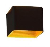 Bañador de pared negro/oro 6W