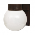 Aplique exterior pared forma globo con base marron