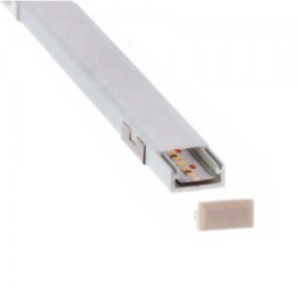 Perfil aluminio superficie 16x7mm para tira led (barra 2m)