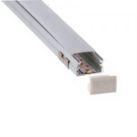 Perfil aluminio superficie XL 20,4x10,2mm para tira led (barra 2m)