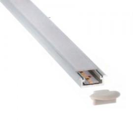 Perfil aluminio empotrar 16x7,5mm para tira led