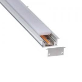 Perfil aluminio empotrar pisable (barra 2m)
