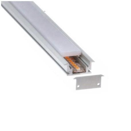 PERFIL LED ALUMINIO EMPOTRAR PISABLE