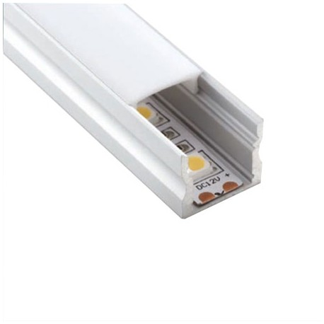 PERFIL LED SUPERFICIE 17 X 15mm (BARRA 2 METROS)