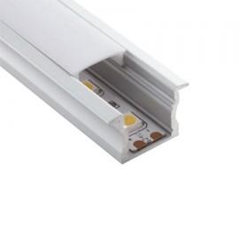 Perfil aluminio empotrar 17x15mm para tira led
