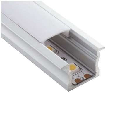 PERFIL LED EMPOTRAR 17 X 15mm (BARRA 2 METROS)