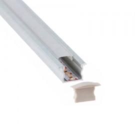 PERFIL BLANCO LED EMPOTRAR 17 X 15mm (BARRA 2 METROS)