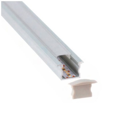 PERFIL BLANCO LED EMPOTRAR 17 X 15mm (BARRA 2 METROS)