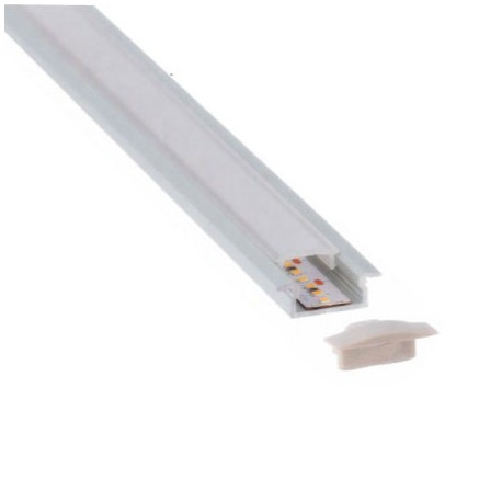 PERFIL BLANCO LED EMPOTRAR 17 X 8mm (BARRA 2 METROS)