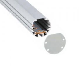 Perfil aluminio  XL superficie colgante para tira led (barra 2m)