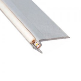 Perfil aluminio escaleras  para tira led (barra de 2.4m)
