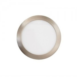 Downlight led redondo 18W níquel satinado 6000K