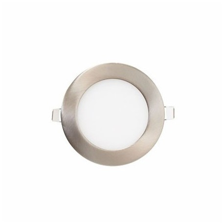 Downlight led redondo 6W níquel satinado 6000K