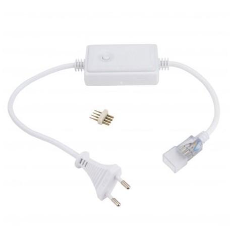 Enchufe/controlador para tiras de led RGB de 220V (Hasta 30 metros)