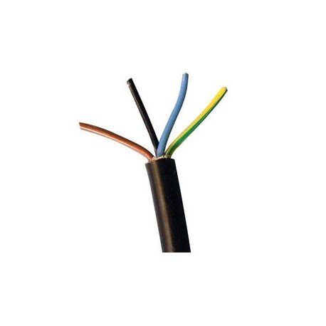 CABLE MANGUERA NEGRA 4 X 0.5mm (Precio por metro)