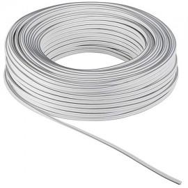 Cable 2 hilos blanco y gris 0.5mm (Precio por metro)