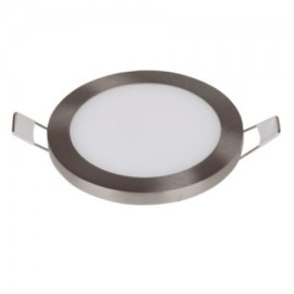 Downlight led redondo 8W níquel
