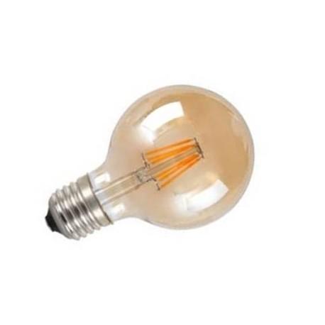 Bombilla led globo vintage ambar E27 6W 600Lm