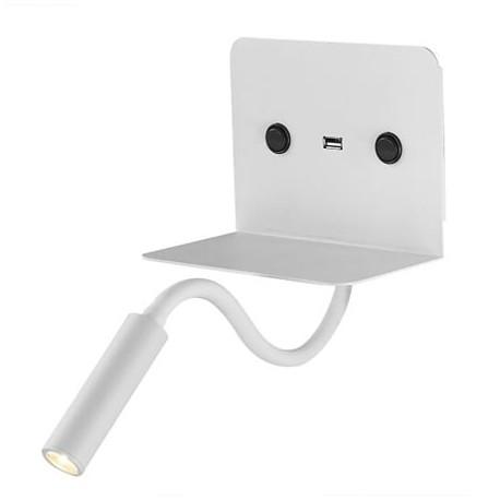 APLIQUE LED MESITA 3W + 6W CON USB