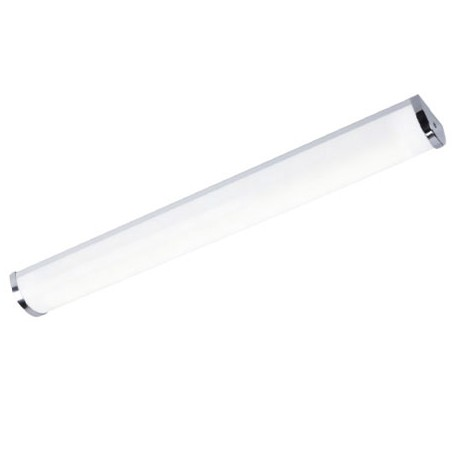APLIQUE CROMADO PARA TUBO DE LED (NO INCL)