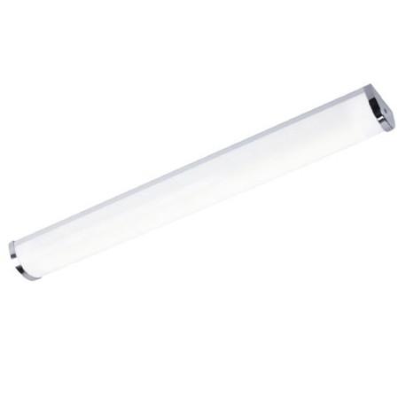APLIQUE CROMADO PARA TUBO DE LED (NO INCL)
