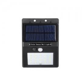 Aplique led solar con sensor 4W bateria recargable