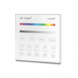 Mando RGB/RGBW táctil empotrable para 4 zonas