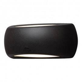 Aplique exterior FRANCY negro con bombilla 6W incluida