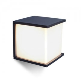 Aplique de pared exterior BOX CUBE cuadrado 1xE27 de Lutec