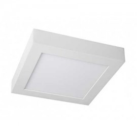 Plafón led cuadrado 20W blanco 225x225mm 1640Lm