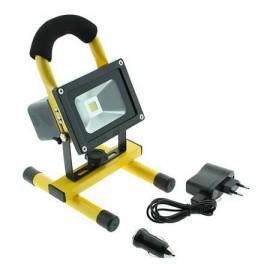 Foco proyector led portátil con bateria 10W