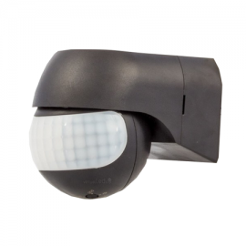 Sensor de presencia para pared IP44 Negro