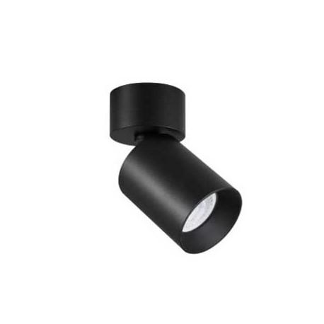 Aplique aluminio negro para bombilla led GU10
