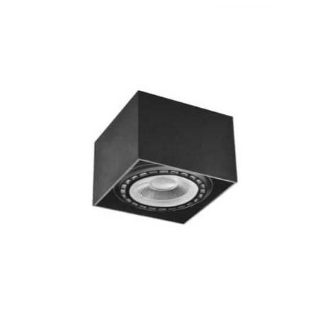 Aplique negro cuadrado para bombilla AR111 120x120mm