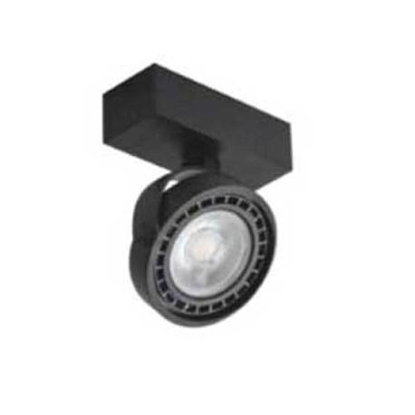 Aplique negro para bombilla AR111 giratorio 330º