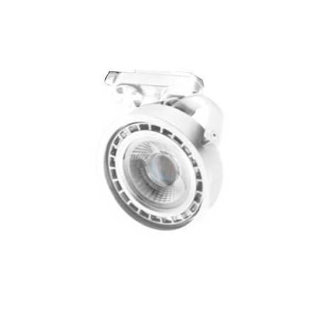 Foco para carril monofásico blanco para bombilla led AR111