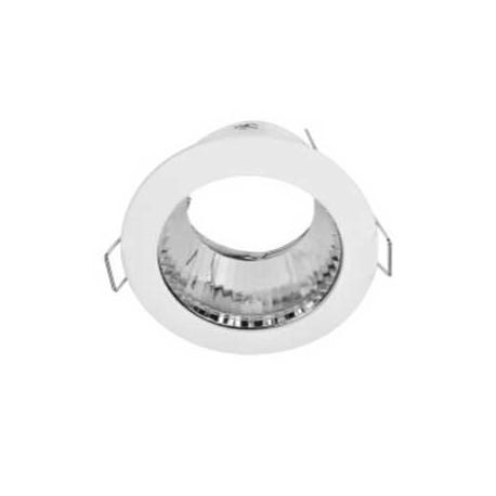 Aplique redondo blanco con reflector aluminio 85(Ø)mm