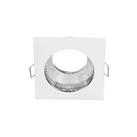 Aplique cuadrado blanco con reflector aluminio 85x85x46mm