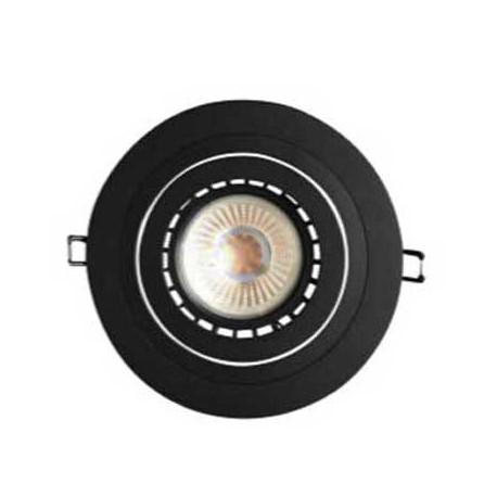 Aplique redondo basculante negro 117(Ø)mm para GU10