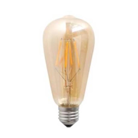 Bombilla led vintage ambar E27 4W 400Lm