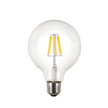 Bombilla led globo E27 6W filamento 600Lm