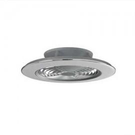 Ventilador de techo ALISIO plata DC LED CCT MANTRA