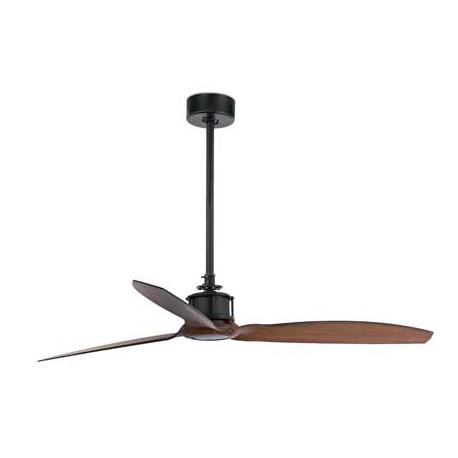 Ventilador de techo JUST FUN negro/madera