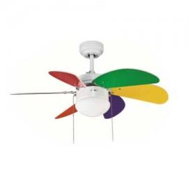 Ventilador de techo Tabit multicolor